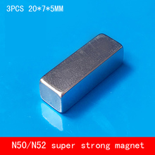 3PCS/lot 20*7*5mm powerful rare earth magnet N50 N52