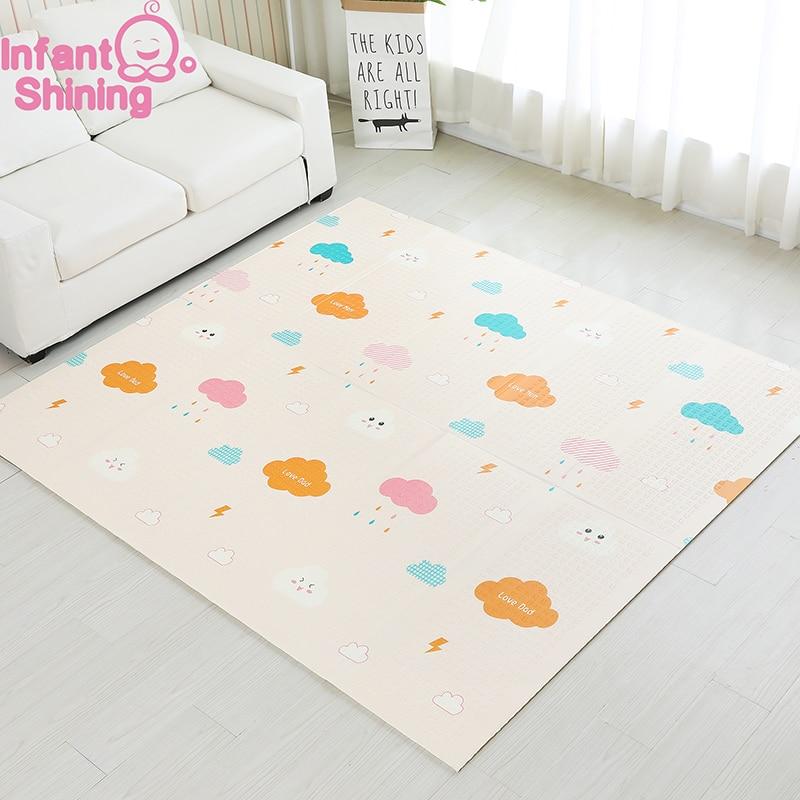 Bébé brillant 1.5 CM épais bébé tapis tapis de jeu pliable enfant tapis de jeu 200*180 CM grand enfant ramper tapis Puzzle couverture jeu Pad - 2
