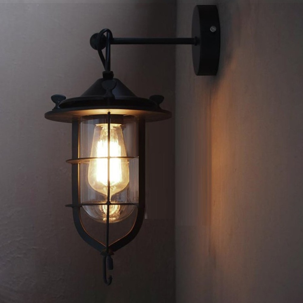 Vintage Wall Lamp Loft Bar Nordic Classic Wire Lamp Cage DIY Wall Lamp Industrial Guard Shade Lamparas стоимость