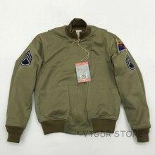 ボブ洞フューリータンカーパッチジャケット男性のヴィンテージ米軍軍事冬のウールのコート