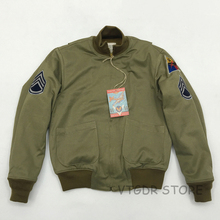 Bob Dong Fury Tanker Patch Jacket Mens Vintage US Army Military Winter Wool Coat