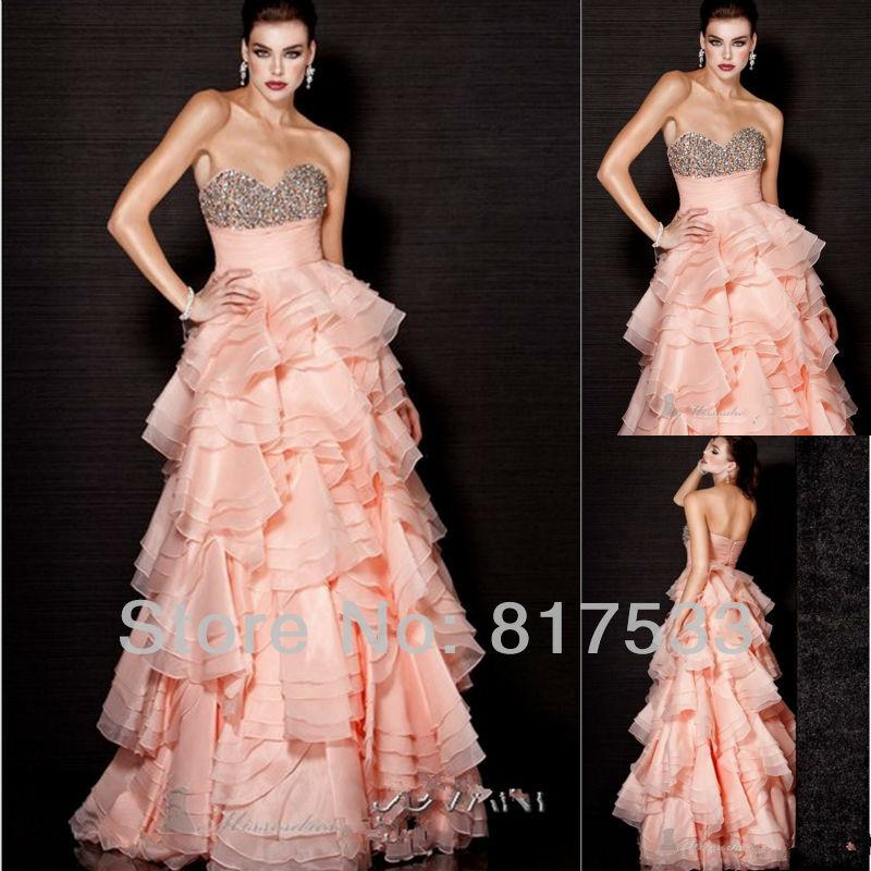 2013 gowns blush pink dress unique wedding dresses with for Unique colorful wedding dresses