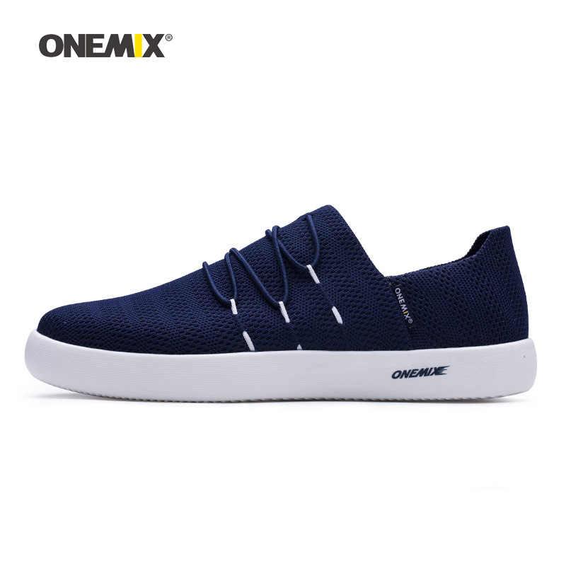 Onemix Man สเก็ตบอร์ดรองเท้าผู้ชายขับรถตาข่าย Designer คลาสสิกสเก็ตบอร์ดรองเท้าผ้าใบกลางแจ้งเดิน Trainers