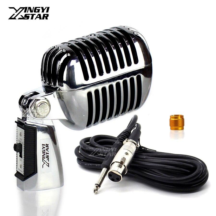 55SH 6.5mm Jack filaire professionnel interrupteur métal Deluxe classique Vintage Microphone micro dynamique pour chant magique chanter amplificateur