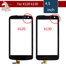 10pcs/lot High Quality For LG K4 K120 K120E K121 K130 K130E Touch Screen Digitizer Sensor Outer Glass Lens Panel Replacement