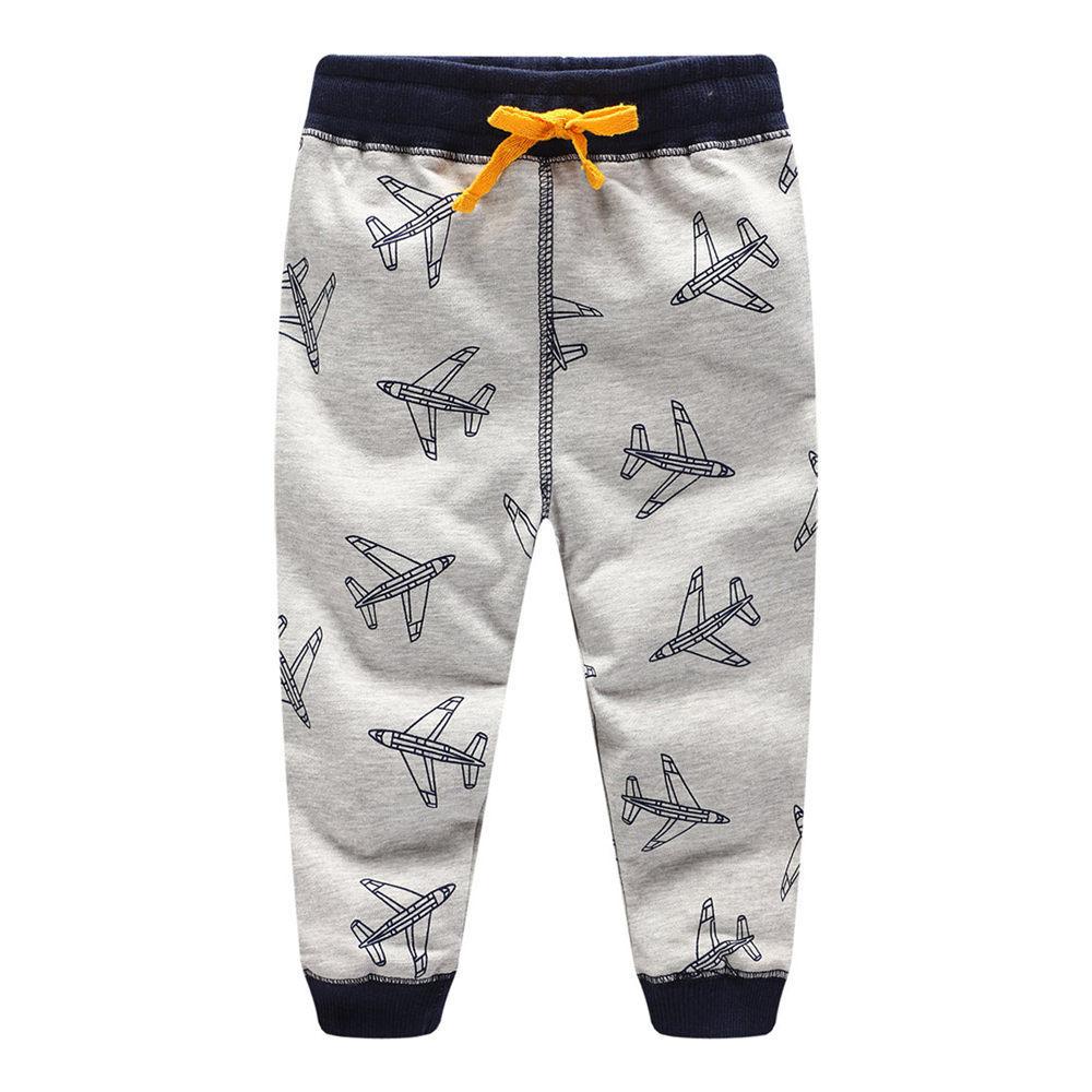 Littlemandy 2018 Plane Boys Cotton Pants Children Trousers brand Print Autumn Winter Baby Clothes Sweaterpants Kids Leggings