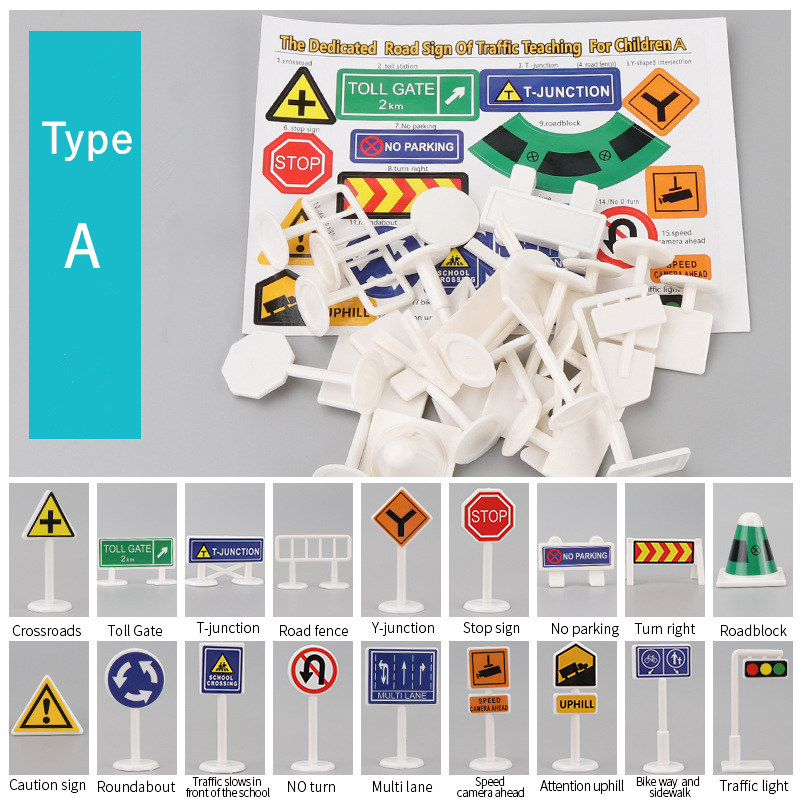 18pc Traffic Sign A