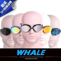 Whale Brand Silicone Swimming Goggles Adult Swim Eyeglasses Piscina Eyewear UV 400 Anti Fog Protect Waterproof