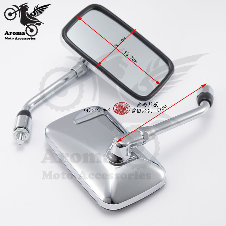 new chrome motorbike side mirror parts scooter rear view mirror sliver motocross backup mirrors moto rearview motorcycle mirror