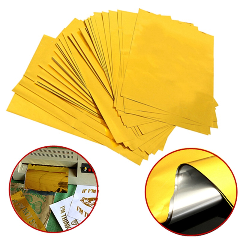 50Sheets A4 Gold Hot Stamping Transfer Foil Paper Laminator Laminating Laser Printer Business Card DIY Craft Supplies 29x21cm