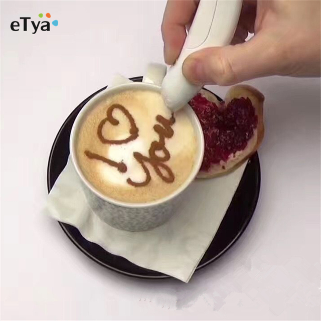 Electrical Latte Art Pen for Coffee Decoration, Baking Decoration & More