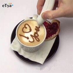 Gorąca sprzedaż elektryczne latte art Pen do kawy przyprawa do ciast pióro narzędzie do dekoracji ciast pióro pisak do kawy narzędzia do pieczenia ciasta w Szablony do ozdabiania kawy od Dom i ogród na