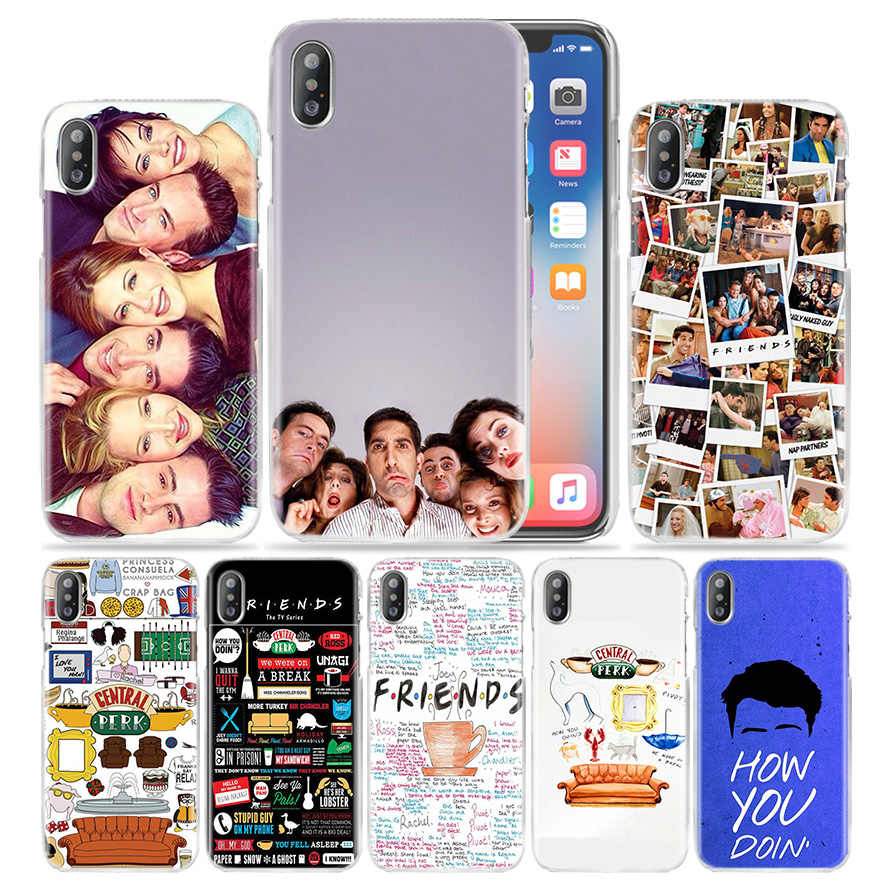 Caso amigos Juntos para Apple iPhone 4 8 7 7S Plus X XS Max XR 4S 5 5S SE 5C 6 6s Funda Luxo Rígido PC Phone Cases Capa Coque