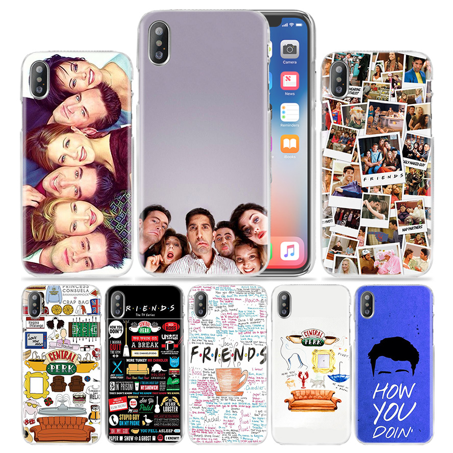 Hot sale Friends Together Hard Transparent Phone Case Cover Coque for Apple iPhone 4 4s 5 5s SE 5C 6 6s 7 Plus iphone