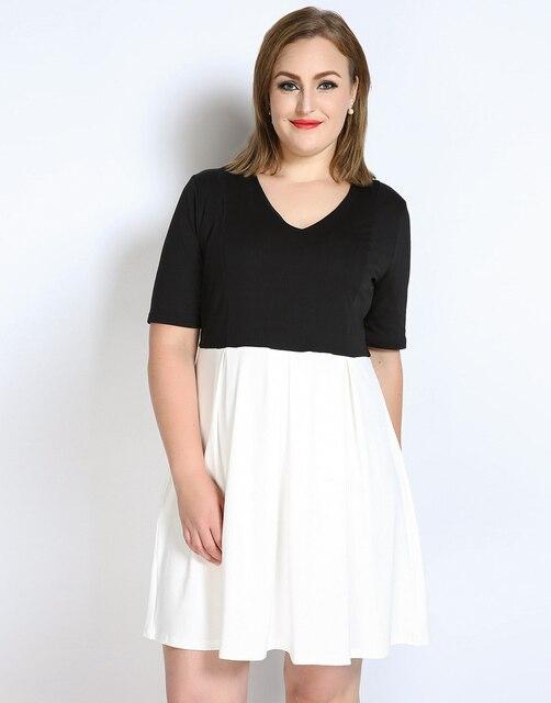 dames jurk zwart wit