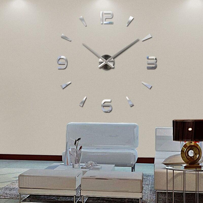 Новинка 2016 настенные часы кварцевые часы Reloj де сравнению современный дизайн большие декоративные часы Европа акриловые наклейки гостиная клок