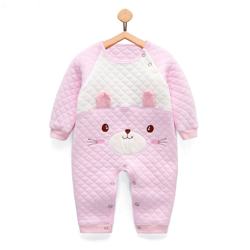 Winter Newborn Baby girls Clothes Keep warm Infant Baby Rompers Boy and Girl Long Sleeve Overalls Baby Clothing Set