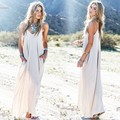 2016 Vintage Women Summer Beach Dress Wear Long Maxi Bohemian Floor-Length O Neck Off The Shoulder Vestidos Festa Longo