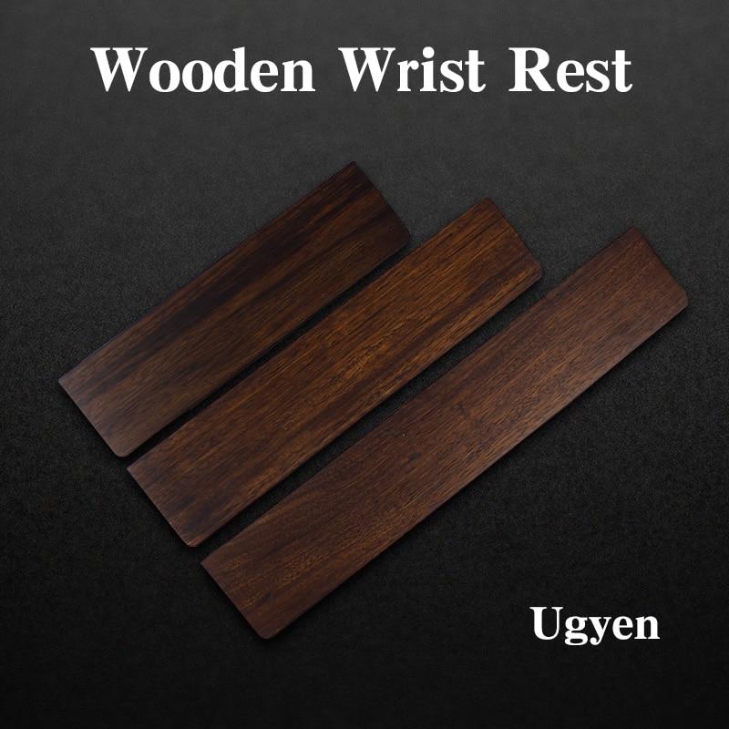купить Wooden Wrist Rest ugyen wood for wried mechanical gaming keyboard gh60 poker filco 60 87 104 по цене 1305.55 рублей