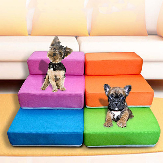 respirant maille pliable pet escaliers amovible pet lit escaliers chien rampe 2 tapes chelle. Black Bedroom Furniture Sets. Home Design Ideas