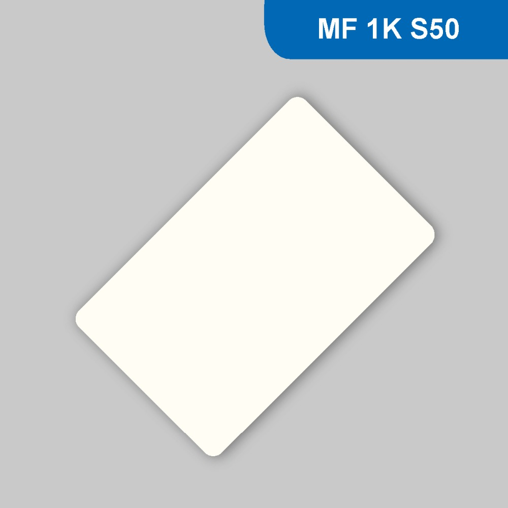 RFID ISO PVC Card Frequency 13.56MHz (HF) ISO14443A Contactless Card Consumer card with M1 S50 Chip Free Shipping