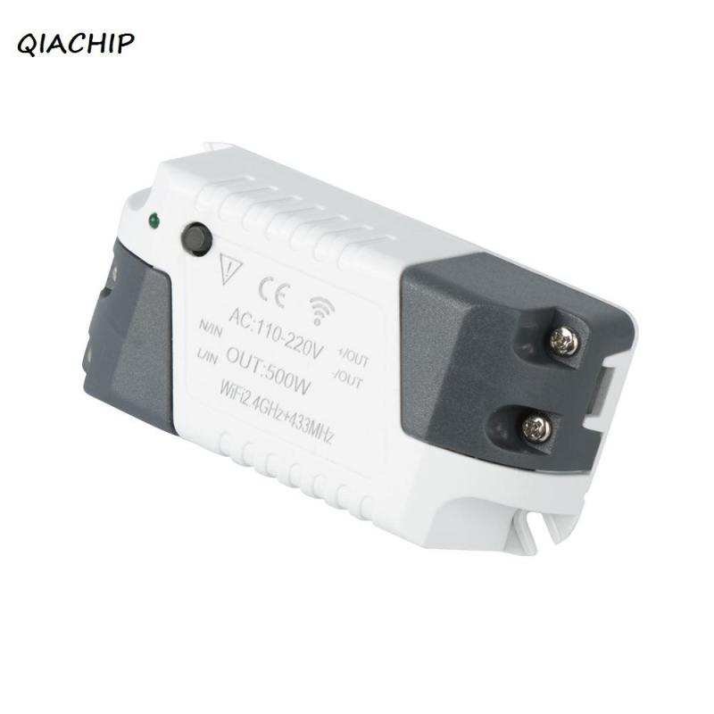QIACHIP 220V 110V Wi-Fi Wireless Mini Smart Switch Remote Control Module Support Android and App System Intelligent Switch H4 elm327 mini wi fi car diagnosis tool w switch white