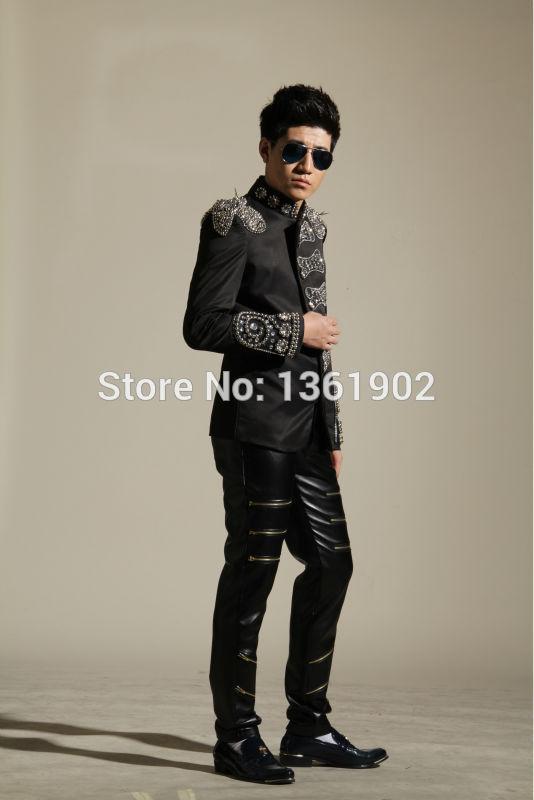 Men Plus панк өнімі жұқа пиджак моншақ - Ерлерге арналған киім - фото 2
