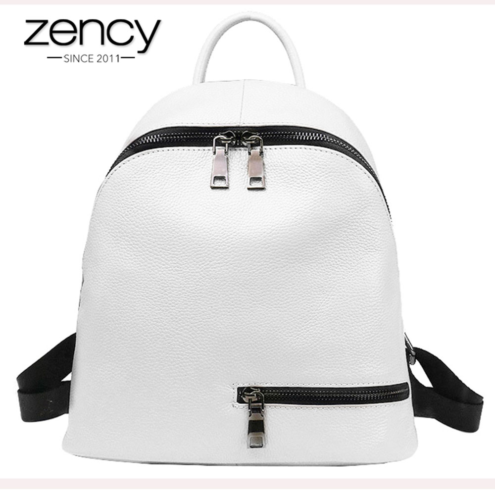 2016 Fashion Zipper Genuine Leather Women Backpacks for Teenage Girls Ladies Pocket School Bags Supplies Female Mochila Escolar armband for iphone 6