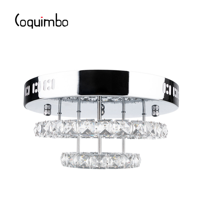 Coquimbo 85 265V Metal Crystal Modern Ceiling Lamp For Hallway Dining Room Bedroom Glass Lamp Warm