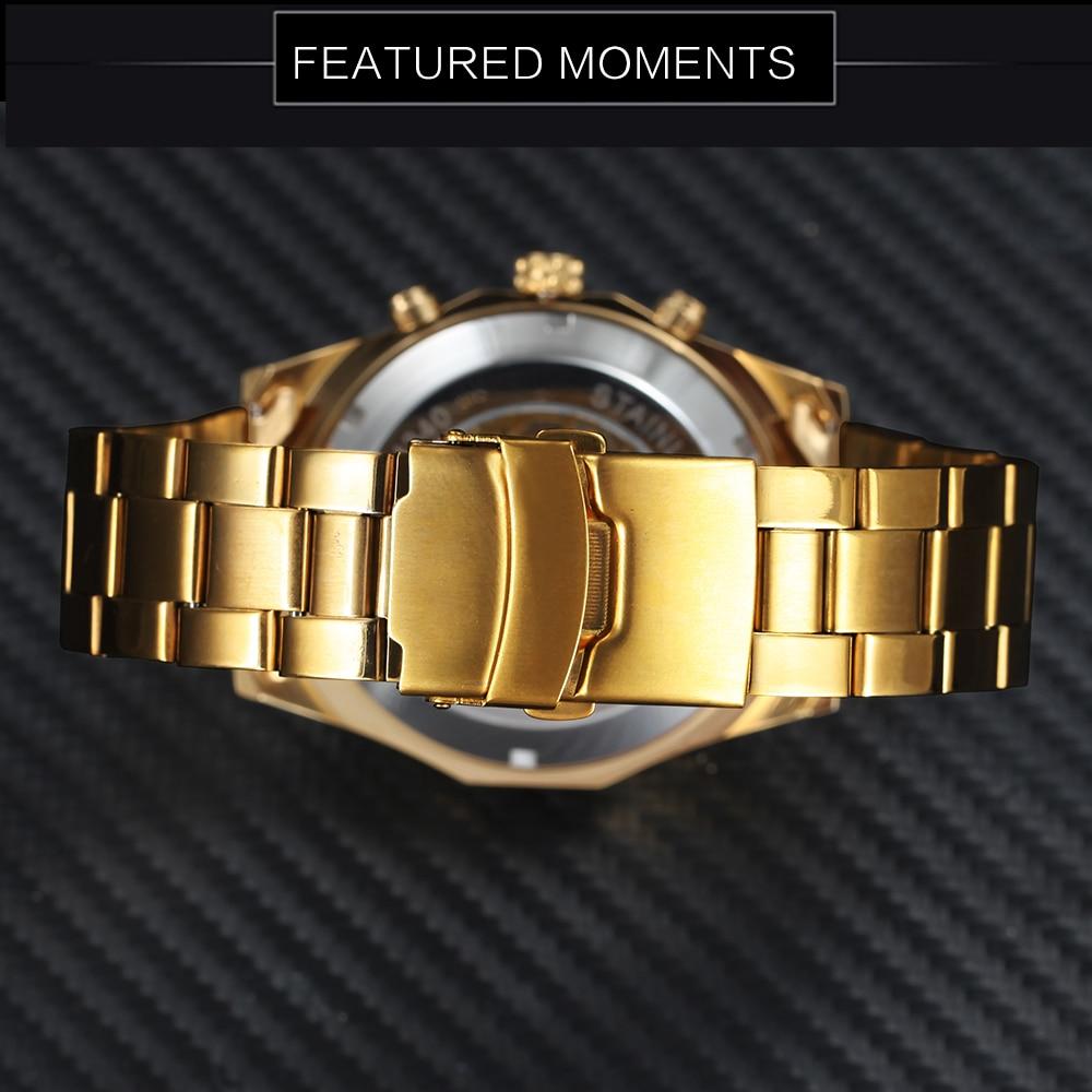 Winner Watch Men Skeleton Automatic Mechanical Watch Gold Skeleton Vintage Man Watch Mens FORSINING Watch Top Brand Luxury 14