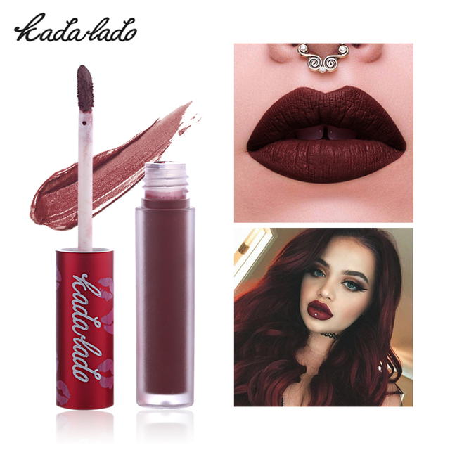 KADALADO Brand Make Up Waterproof Nude Lipstick Long Lasting Liquid Matte Lipstick Pen Lip Gloss Cosmetics Lipgloss Lip Makeup 1