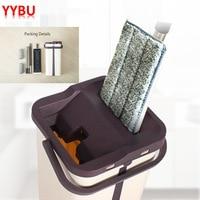 YYBU Self cleaning Floor Mop Bucket Squeeze Cleaning Floor Magic Spin Mop Cleaning Floor Mop Holder Floors Cleaning Tools