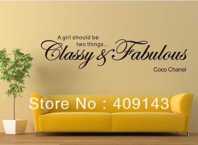A Girl Should Be Glassy Fabulous Removable Vinyl Wall art quotes Sticker DIY Room Wall Decal Home Decor Decoration