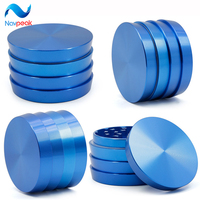 Navpeak 50pcs/lot 4 colors 2.5 inches 4 layers aluminium alloy wave levels herb grinders 63mm grinder