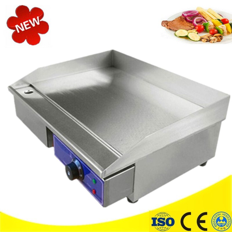 Brand New BBQ Grooved Flat Pan Electric Griddles 220V/110V Electric Contact Grill Grooved Electric Fried Pans