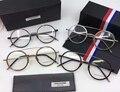 2017 de moda de nova assistente titanium thom óculos frames homens mulheres rodada óculos vintage com caixa original oculos de grau