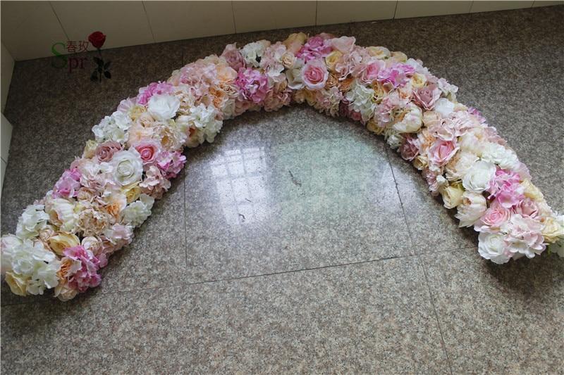 SPR 2 เมตร 30 เซนติเมตรกว้างงานแต่งงานขนาดเล็ก arch ดอกไม้ตารางนักวิ่งดอกไม้ผนังฉากหลังตกแต่งดอกไม้ประดิษฐ์ขายส่ง-ใน ดอกไม้ประดิษฐ์และดอกไม้แห้ง จาก บ้านและสวน บน   1