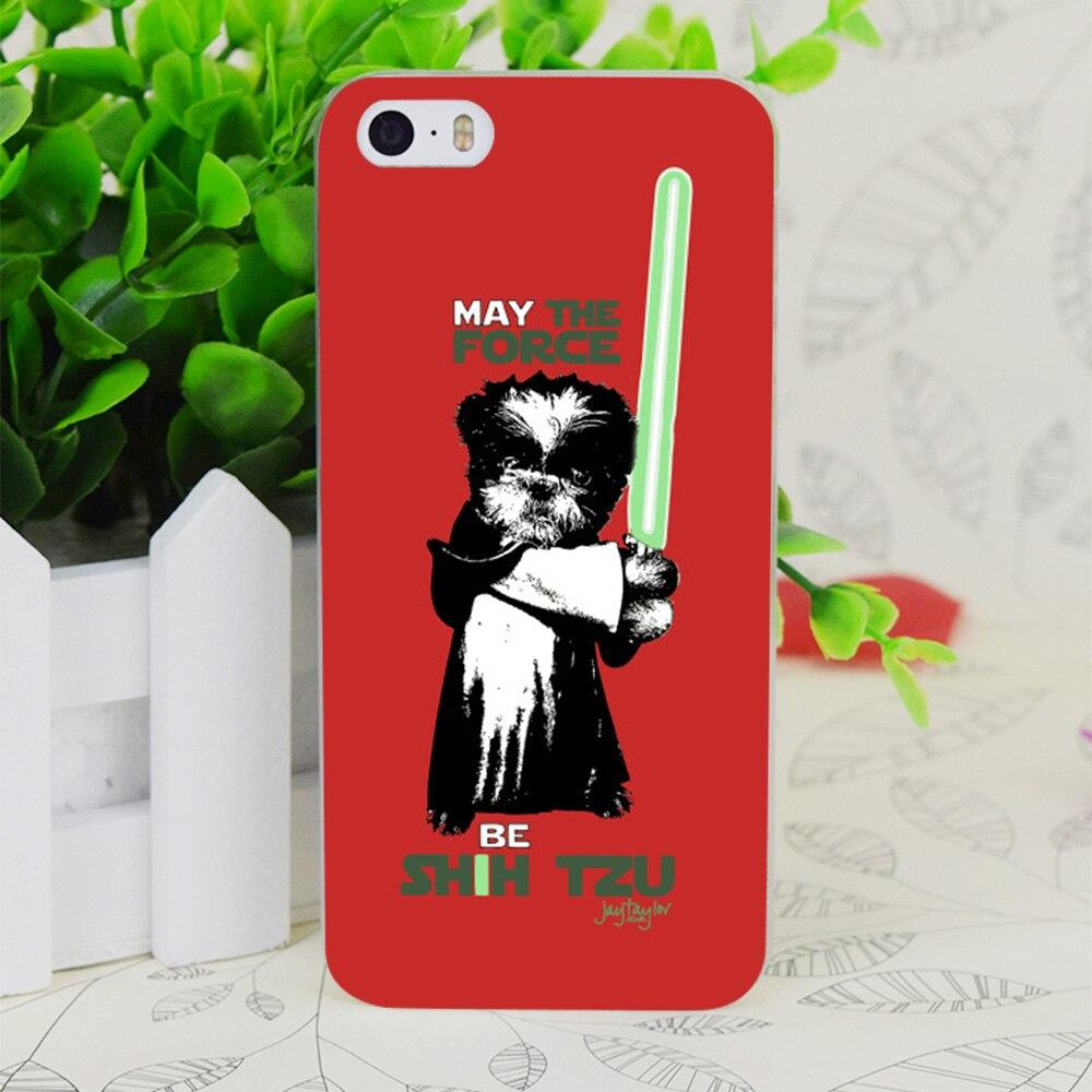 Us 164 45 Offc0447 Kan De Kracht Worden Shih Tzu Transparante Harde Dunne Case Skin Cover Voor Apple Iphone 4 4 S 4g 5 5g 5 S Se 5c 6 6 S Plus In