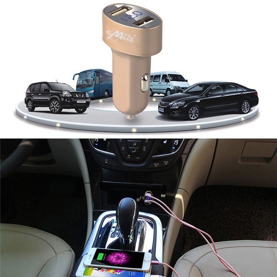 New Brand CARPRIE 1PC Universal LED Dual USB Car Auto Charger 2 Port Adapter High Quality Car Charger