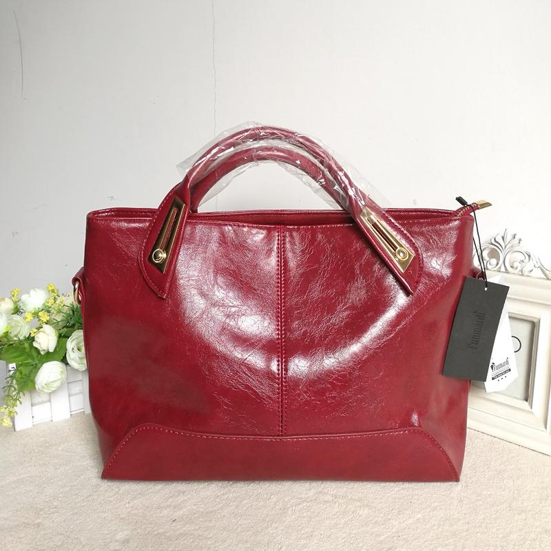 Women Oil Wax Leather Designer Handbags High Quality Shoulder Bags Ladies Handbags Fashion brand PU leather women bags WLHB1398 25
