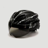 Bicycle Helmet MTB Helmet Bike Mountain Road Cycling Helmet With Windproof Goggle specialiced Helmet Bicycle For Integrally Mode