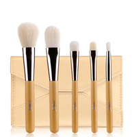 MSQ Brand New Design 5pcs Makeup Brush Kit High Quality Synthetic Hair Wooden Handle With Envelope