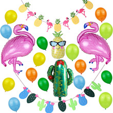 Flamingo Animal Balloons Dolphin Pineapple Birthday Foil Balloon Party Baloons for Summer Hawaiian Decoration