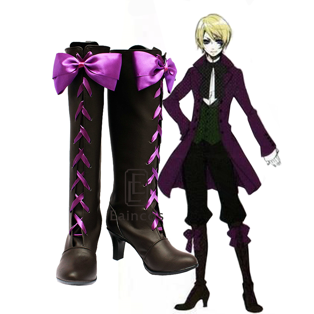 Black Butler Alois Trancy Cosplay Boots Shoes New