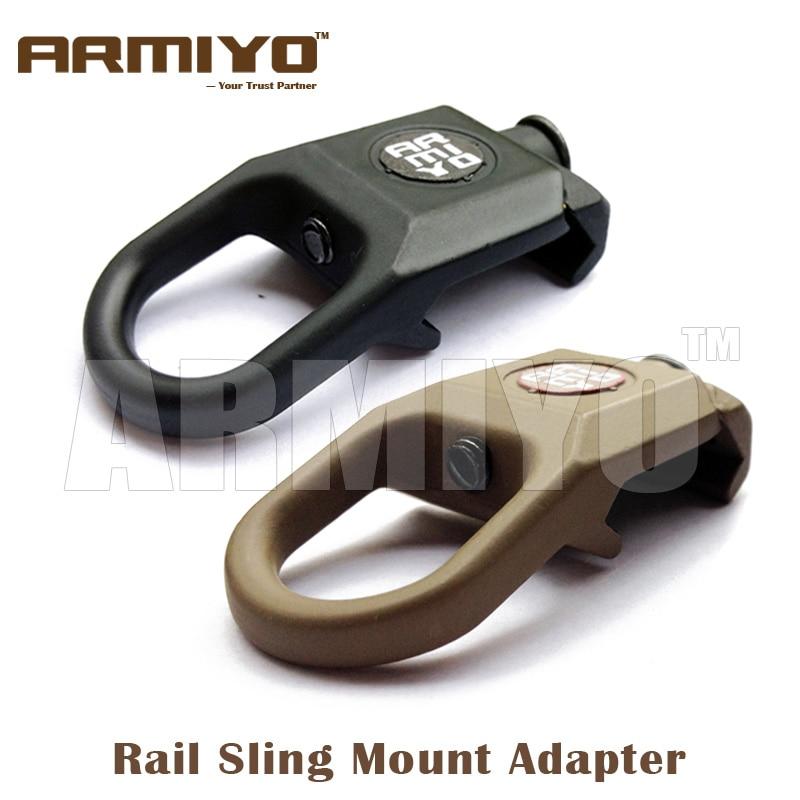 Hunting Airsoft Keymod Handguard Swivel Mount QD Sling Attachment Point Mount