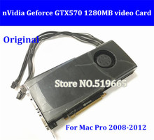 DHL/EMS Free New High Quality Original GTX570 1280MB PCI-E Video Graphic Video Card  GTX 570 with mini 6-pin to 6pin cable DVI