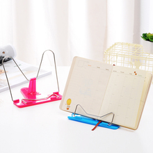 1 Pcs Bookends Portable Foldable Adjustable Bookend Stand Reading Book Stand Document Holder Base Reading Book Holder