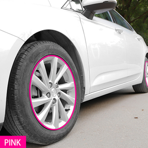 Image 3 - 8 メートル/ロール車のスタイリングホイールリムプロテクターストリップ車のステッカー装飾成形トリム IPA Rimblades て層状 10 色