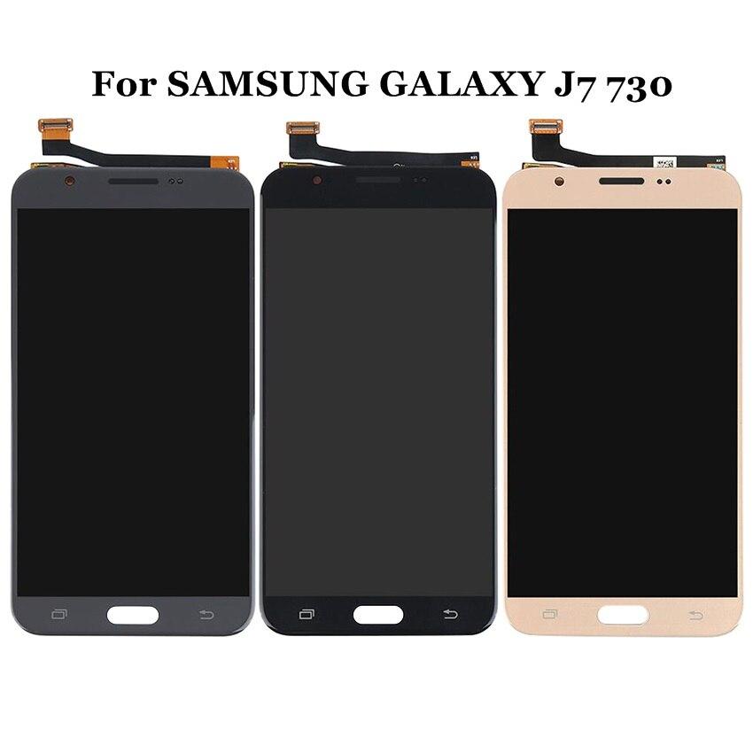 Pour SAMSUNG GALAXY J7 Pro 2017 LCD J730 J730F SM-J730F écran tactile numériseur remplacement pour SAMSUNG J7 730 LCD