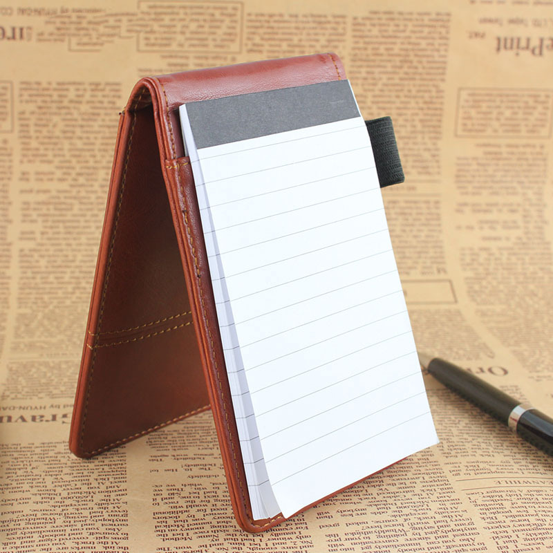 2015 creatieve briefpapier pu lederen notebook notitieblok dagboek - Notitieblokken en schrijfblokken bedrukken - Foto 3